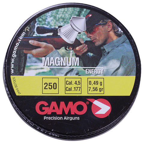 Gamo Magnum Energy .177 Cal, 7.56 Grains, Pointed, 250ct - Pack of 3 Tins