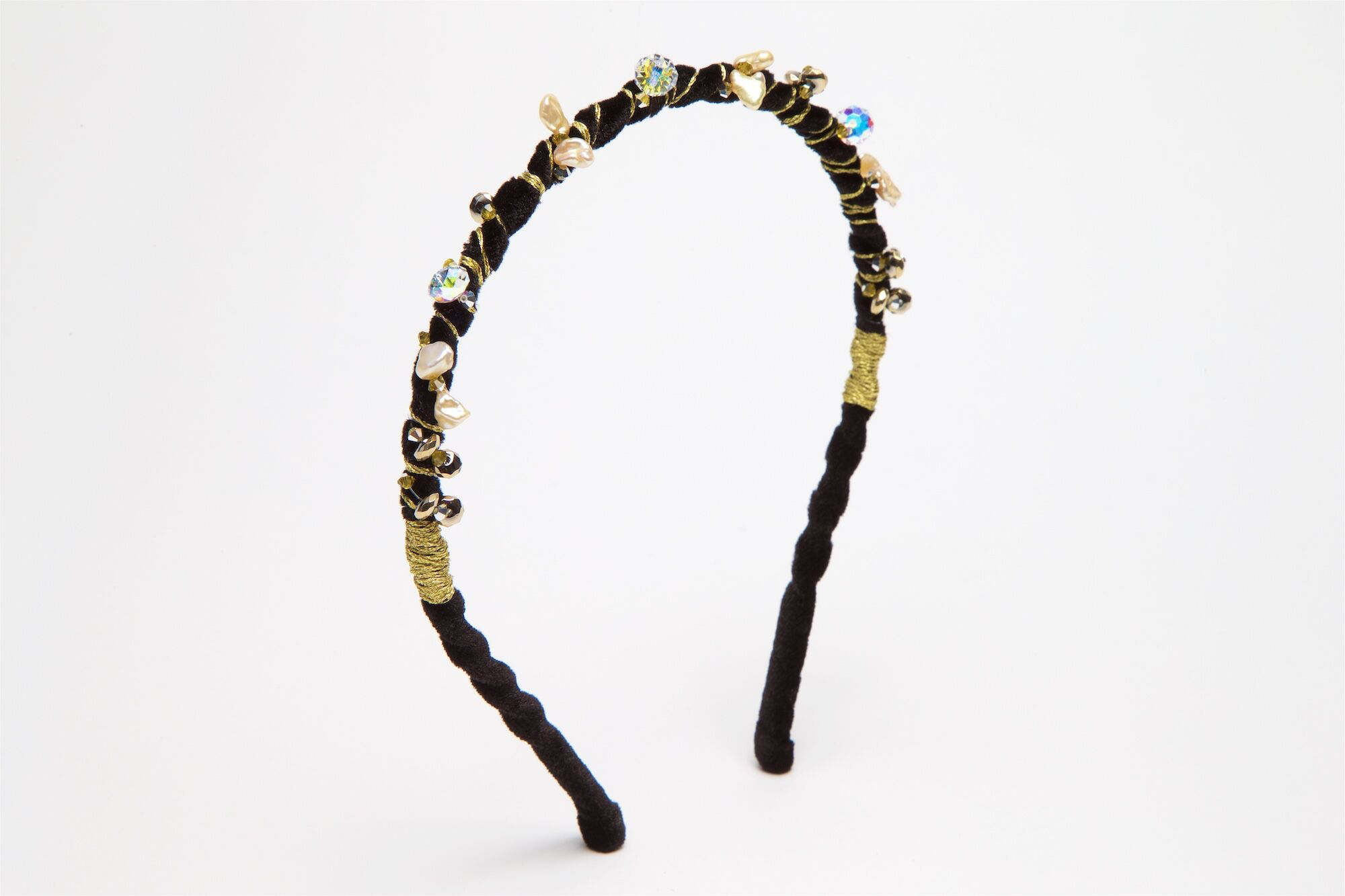 Ripple Black Gold Head Band