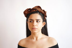 Chelsea Orange Turban Head Band