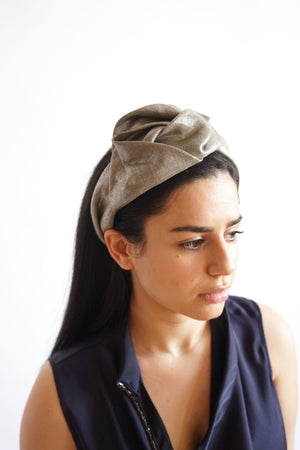 Silver Flower Turban Head Band