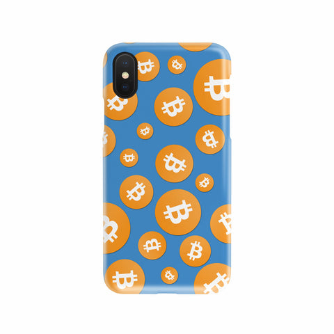 Custom Bitcoin Phone Case - Blue