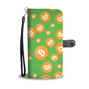 Bitcoin Cell Phone Wallet Case - Green
