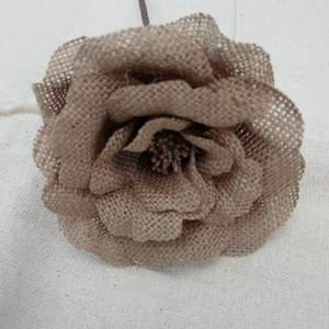 Burlap Rose (single flower)