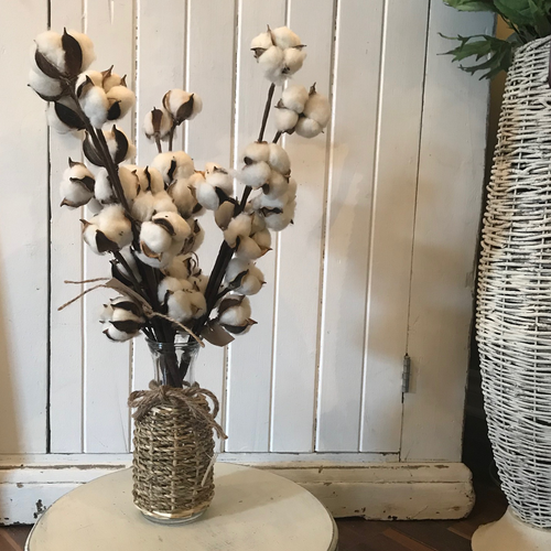 Large Cotton Stem Faux Floral