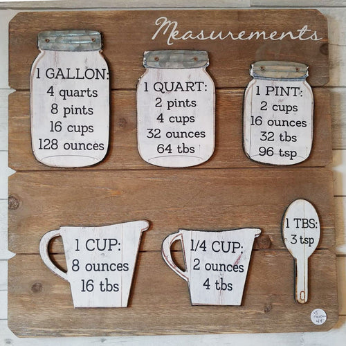 Farmhouse Measurements Wood Sign