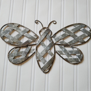 Galvanized Metallic Butterfly