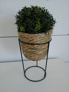 Rattan planter with stand