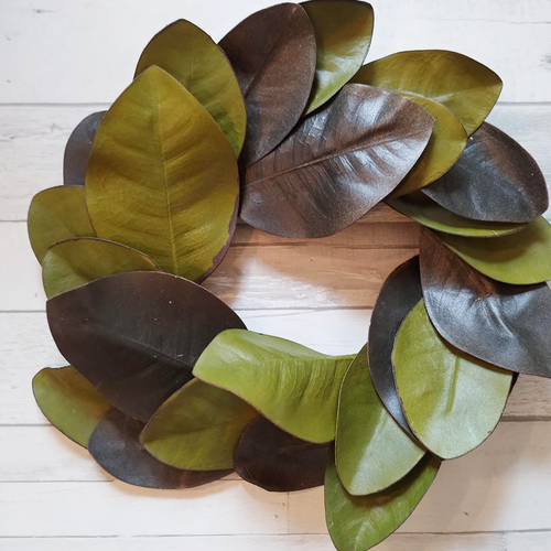 Magnolia Leaf Wreath (Real Looking Faux Floral)