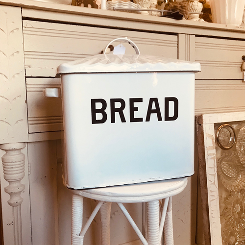 Farmhouse Enamel Bread Box