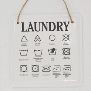Laundry Care Instructions Sign