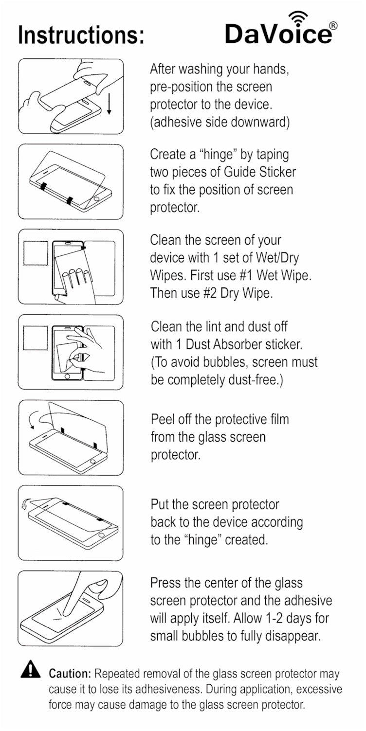 iPhone Screen Protector Instructions