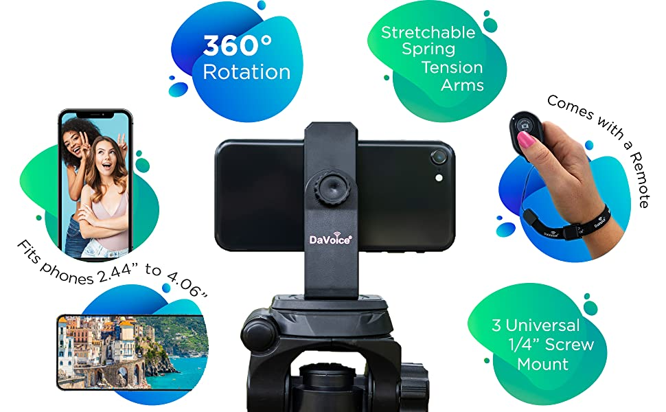 cell phone tripod mount with remote
