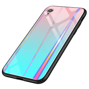 iPhone XR Silicone Case iPhone XR Slim Holographic Glass Case