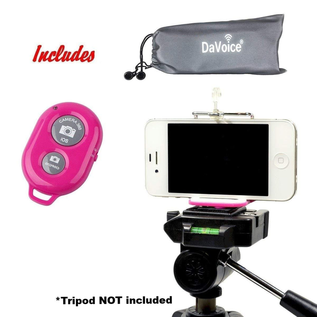 Tripod Phone Mount with Remote and Carry Bag