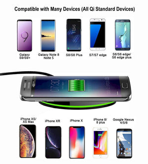 iPhone Samsung Qi Wireless Charger, Wireless Charging Pad