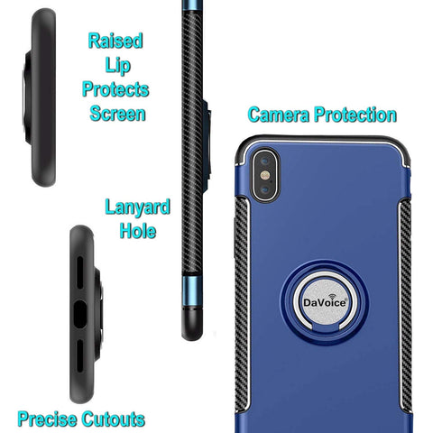 iPhone XR case with ring blue