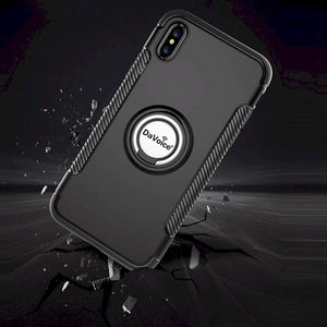 iPhone Xs Max Case Ring Case with Ring Holder Magnetic Back