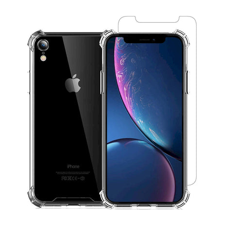 Image of iPhone XR case with screen protector