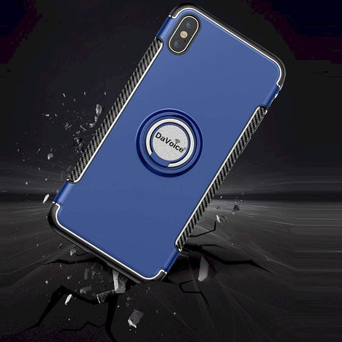 Image of blue iPhone case with ring
