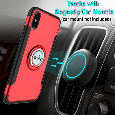 red iphone xs max case with ring
