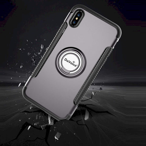 Image of silver iphone case with ring