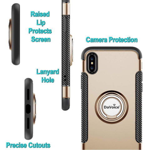 Image of gold iphone xs max case ring