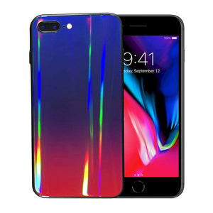 iPhone 7 Plus / 8 Plus Holographic Glass Silicone Case