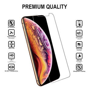 iPhone Xs Max Tempered Glass Screen Protector (2 Pack)