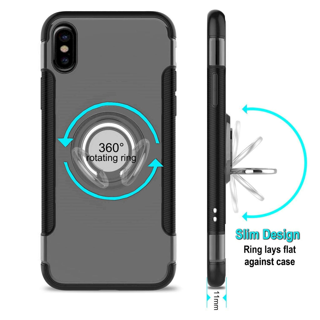 iphone xs max ring case silver