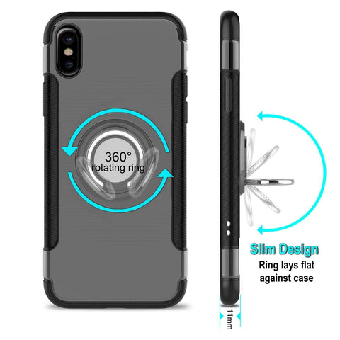 Image of iphone xs max ring case silver