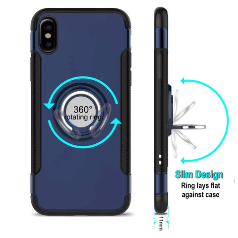 iPhone XR ring case blue