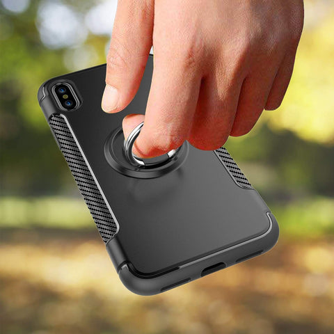 Image of iphone case with ring black