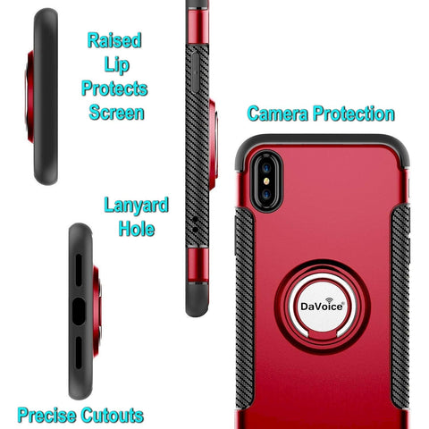Image of iphone xs max case with ring red