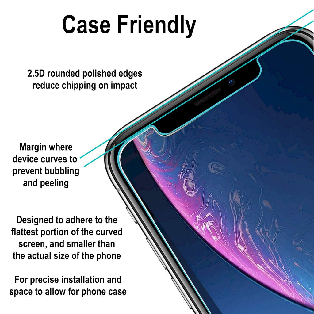 iPhone XR Tempered Glass Screen Protector (2 Pack)