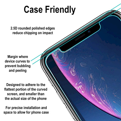 iphone xr screen protector tempered glass