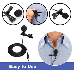 Lavalier Microphone, iPhone Microphone, Phone Microphone