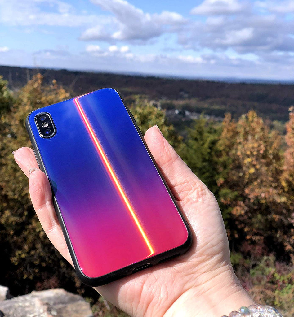 iridescent iPhone XS case