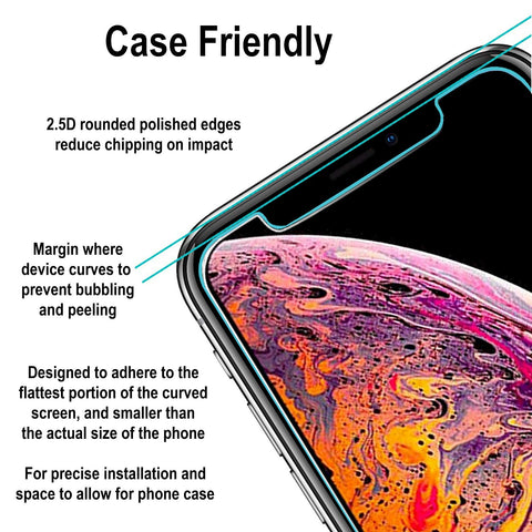 Image of iphone xs max screen protector tempered glass
