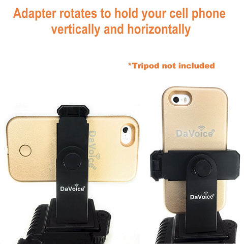 Image of iphone holder for tripod