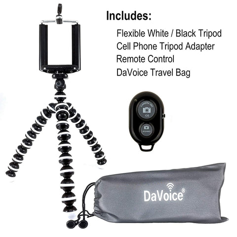 Flexible Tripod with Remote and Carry Bag