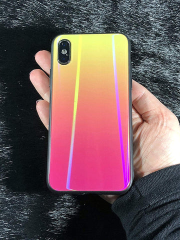 iPhone X holographic case