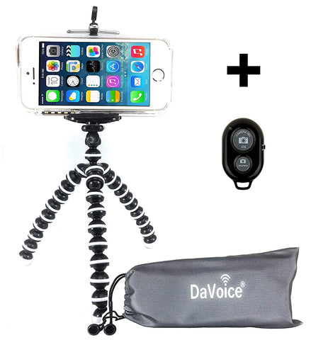 Image of Flexible Tripod with Remote and Carry Bag
