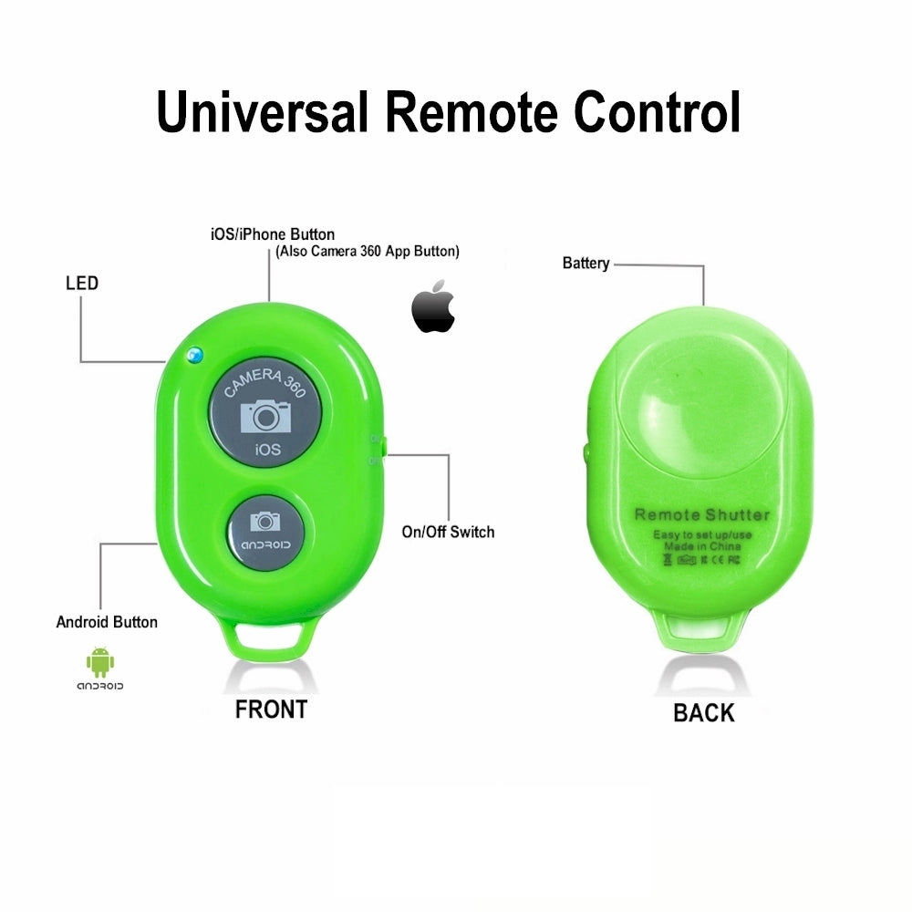 green bluetooth remote control