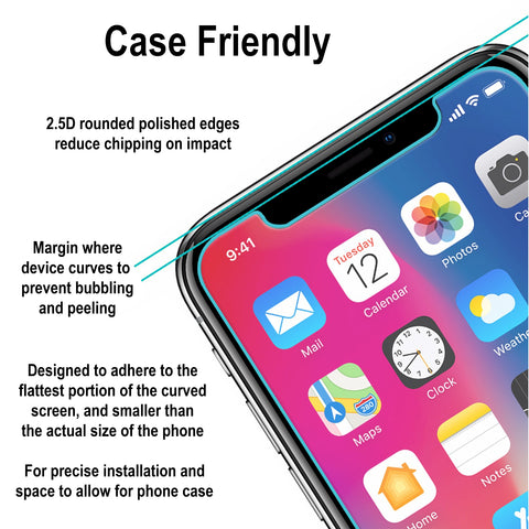 Image of iPhone X Clear Case with Screen Protector
