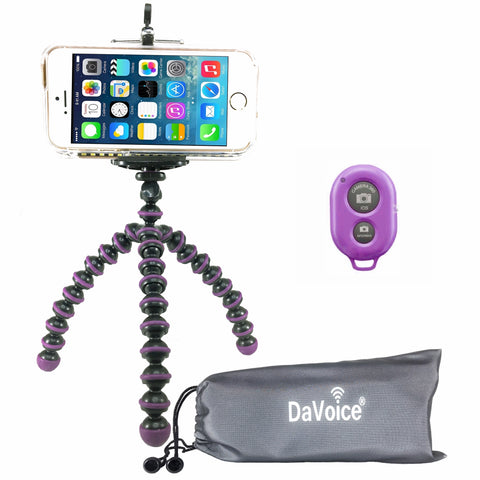 Image of purple flexible tripod