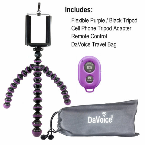 flexible samsung tripod purple