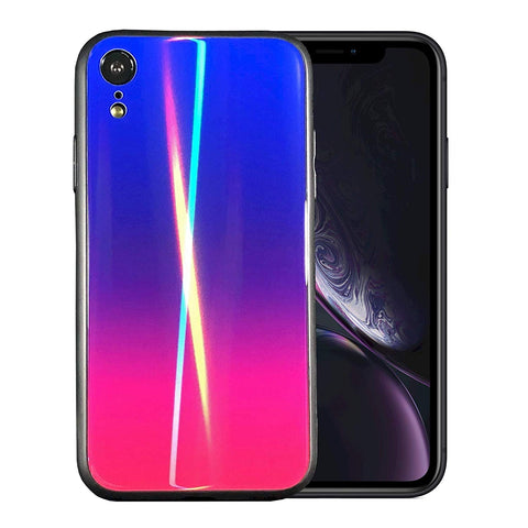 rainbow iphone xr case holographic