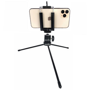 Phone Tripod with Adapter Clip and Mini Ball Head Camera Mount