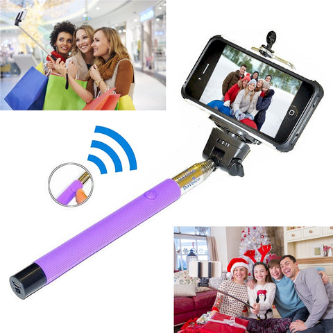 Image of Selfie Stick with Built-in Bluetooth Remote