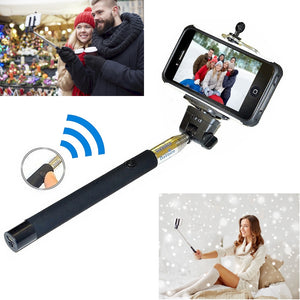Selfie Stick with Built-in Bluetooth Remote